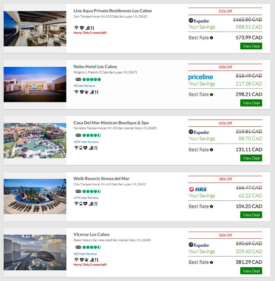 Cabo Hotel Discounts