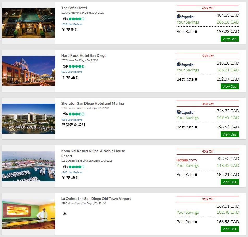 San Diego Hotel Discounts
